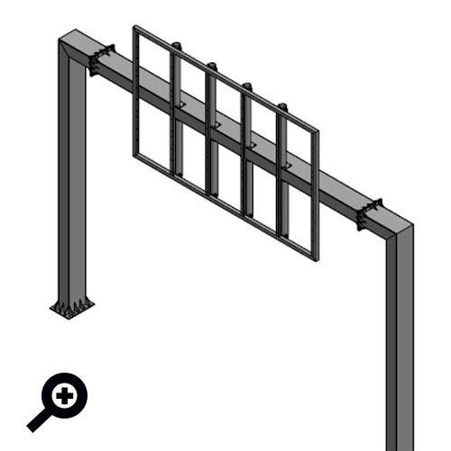 Portique de signalisation permettant la réception de panneaux indicatifs ou directionnels