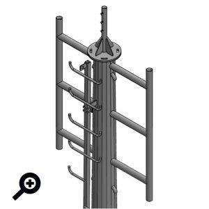Technimast : Mât de transmission (monopolaire ou pylône en treillis réticulé) destiné au déploiement d'antenne.
